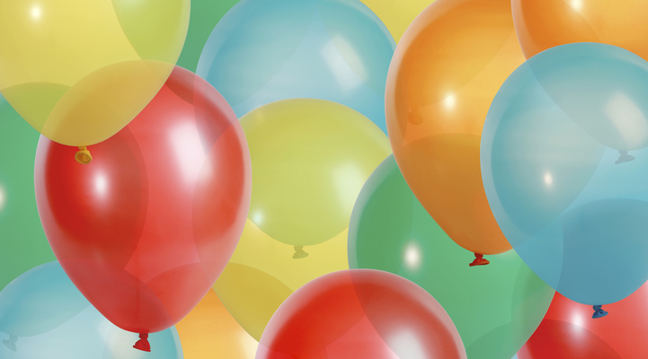 Background of colorful party balloons - XXL file - balloons shot with a high resolution camera (21 megapixel)
